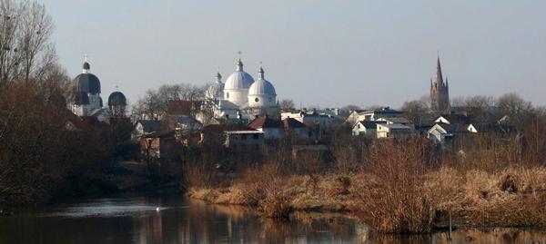 Вид на Кам'янка-Бузьку зі сторони села Забужжя